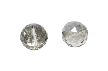 Glass Crystal Polished 30mm Faceted Round
