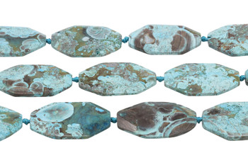 Imperial Jasper Turquoise Polished 50x35mm Faceted Oval