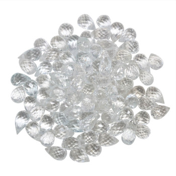 White Topaz Polished 4x7mm Faceted Drop
