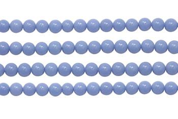 Blue Aragonite Polished 8mm Round - Glow in the Dark