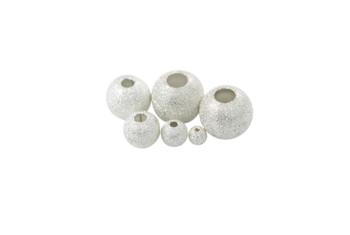 Silver Plated 6mm Stardust Bead