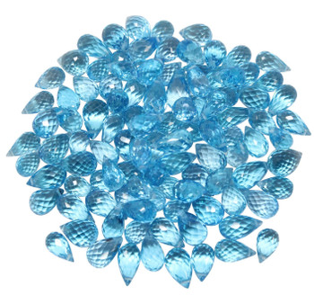 Swiss Blue Topaz Polished 4.5x8mm Faceted Drop