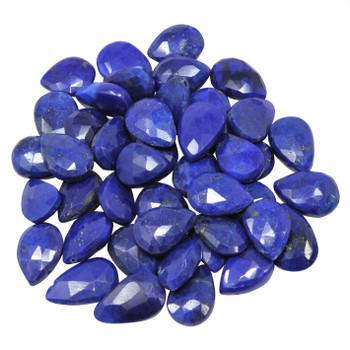 Lapis Polished 8x12mm Faceted Flat Drop
