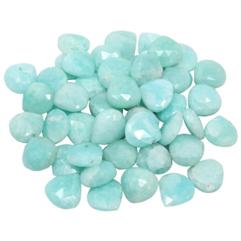 Amazonite Polished 9mm Faceted Briolette