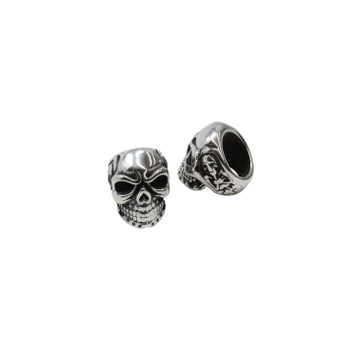 Stainless Steel 15x11x14mm Large Hole Skull Bead