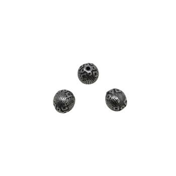 Stainless Steel 9x10mm Diamond Bead