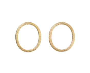 Open Oval Ring 20x17mm - Light Gold Plated