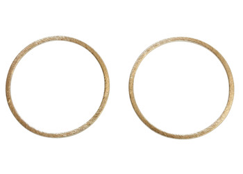 Open Ring 38mm - Light Gold Plated