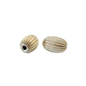 Lace Rice Bead 13x9mm - Light Gold Plated