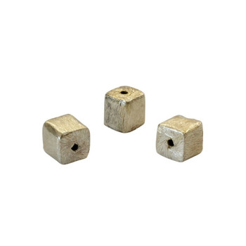Cube Bead 6mm - Light Gold Plated