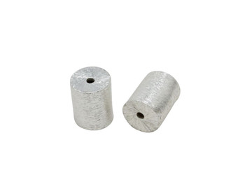 Cylinder 8x10mm - Light Silver Plated