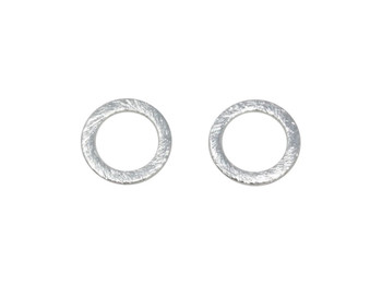 Open Ring 12mm - Light Silver Plated