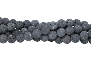 Lava Rock Uncoated Natural 10mm Round