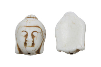 Magnesite Polished 20x28mm Buddha Head