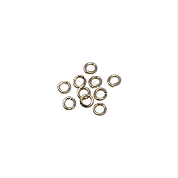 14K Gold Filled 3mm Round 22 Gauge OPEN Jump Rings - 10 Pieces