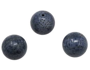 Natural Blue Coral Polished 18mm Round