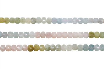 Beryl AAA Grade Polished 6mm Faceted Cube