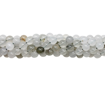 Natural Grey Spot Agate Polished 8mm Round