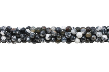 Black Fire Agate Polished 8mm Faceted Round
