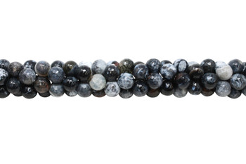 Black Fire Agate Polished 10mm Faceted Round