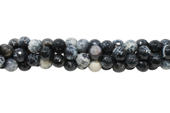 Black Fire Agate Polished 12mm Faceted Round