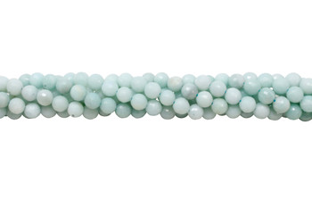 Amazonite Polished A Grade 8mm Faceted Round