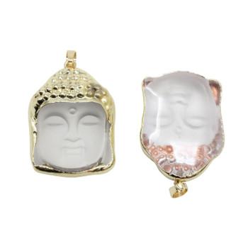 Glass Buddha Head Pendant