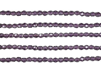Fire Polish 4mm Faceted Round - Tanzanite