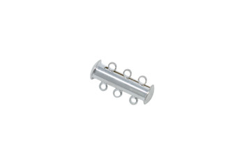 Silver 20x10mm 3-Hole Magnetic Slide Clasp