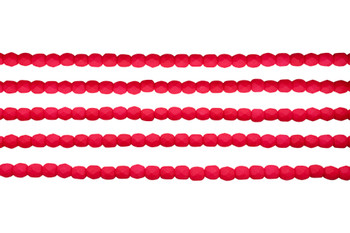 Fire Polish 4mm Faceted Round - Saturated Red