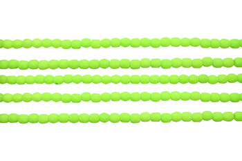 Fire Polish 4mm Faceted Round - Neon Lime