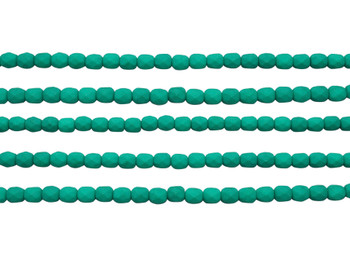 Fire Polish 4mm Faceted Round - Neon Emerald
