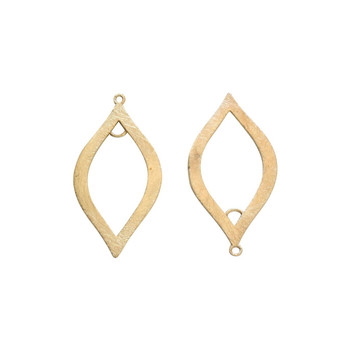 Marquise Pendant 50x24mm - Light Gold Plated
