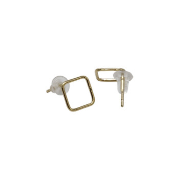 14K Gold Filled Diamond Bubble Stud Earrings - Sold as a Pair