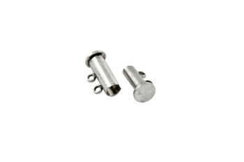 Antique Silver 14x10mm 2- Hole Magnetic Slide Clasp