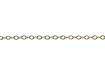 Gold 2x1mm Petite Cable Chain - Sold By 6 inches