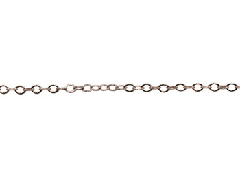 Rose Gold 2x1mm Petite Cable Chain - Sold By 6 inches