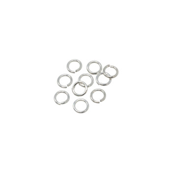 Sterling Silver 4mm Round 22 Gauge OPEN Jump Rings - 10 Pieces