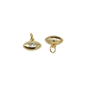 Gold Micro Pave Evil Eye Charm