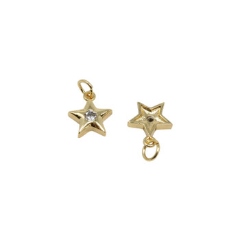 Gold Micro Pave Star Charm