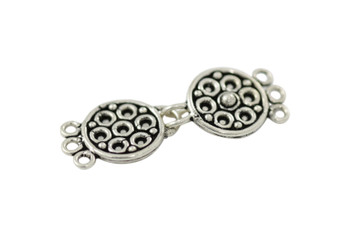 Silver 3-Hole Bali Style Clasp