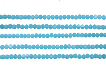 Glass Crystal Matte 4x3mm Faceted Rondel - Aquamarine AB