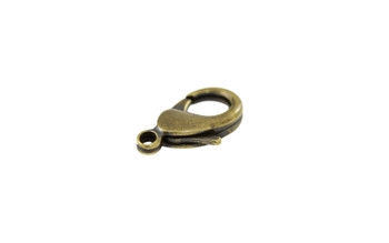 Antique Brass 15x9mm Lobster Claw Clasp