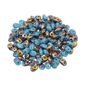 Matubo SuperDuo -- Blue Turquoise Apollo