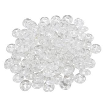CzechMates® QuadraLentil Beads -- Crystal