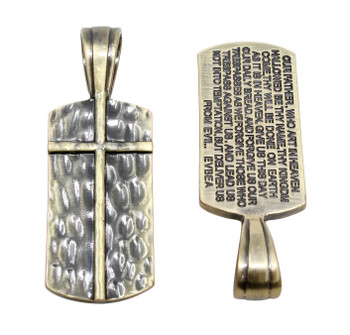 Our Father Cross Rectangle Pendant