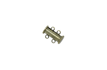 Antique Brass 14x10mm 2- Hole Magnetic Slide Clasp