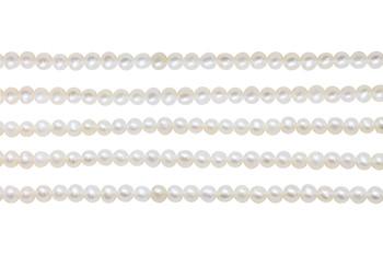 Freshwater Pearls 4-4.5mm Semi Round White