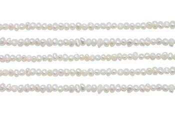 Ivory/White Freshwater Pearls 3-3.5mm Potato