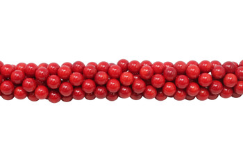 Red Coral Polished 8mm Round